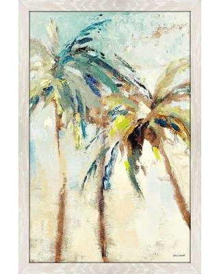 """Bay Isle Home 'Bright Island Morning II' Framed Acrylic Painting Print on Acrylic BF152131 Size: 51.5"""" H x 35.5"""" W x 0.75"""" D Frame Color: Distressed White"""