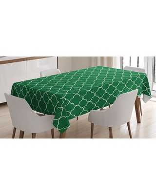 Great Prices For Ambesonne Quatrefoil Tablecloth 4 Leaf Clover Flower On Moroccan Trellis Mosaic Pattern Traditional Digital Print Rectangular Table Cover For Dining