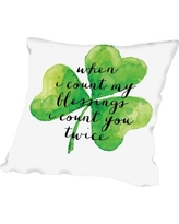 """The Holiday Aisle Brett Wilson St. Patrick's Day Throw Pillow HLDY1141 Size: 16"""" H x 16"""" W x 2"""" D"""