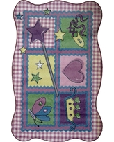 LA Rug Supreme Fairy Quilt Multi Colored 3 ft. x 5 ft. Area Rug
