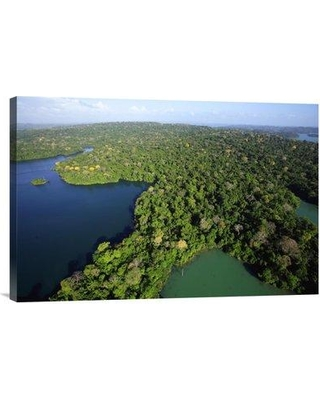 """East Urban Home 'Aerial View of the Canal Zone Barro Colorado Island Panama' Photographic Print EAAC8960 Size: 16"""" H x 24"""" W Format: Wrapped Canvas"""