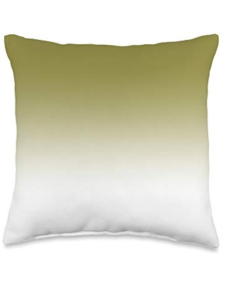 Swesly Totes & Pillows Ombre Green Yellow Olive AEJT172 Throw Pillow, 16x16, Multicolor