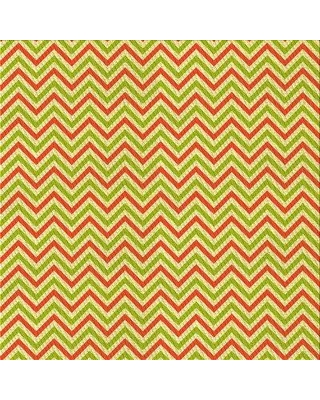 East Urban Home Chevron Wool Red/Green Area Rug X113649299 Rug Size: Square 4'