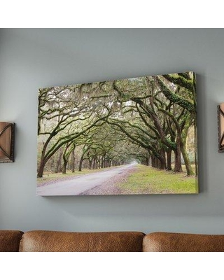 """Loon Peak Oak'Trees with Spanish Moss in Savannah Georgia 2' by Cody York Photographic Print on Wrapped Canvas LNPK2561 Size: 24"""" H x 36"""" W x 2"""" D"""