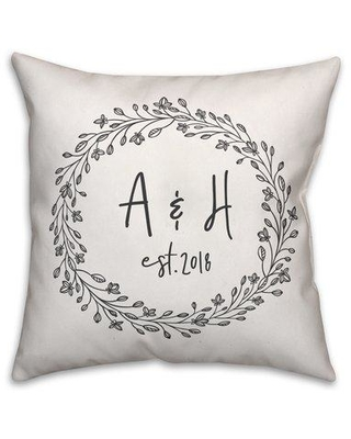 12 Off Charlton Home Harting Wreath Personalized Outdoor Throw Pillow Cg226368 Customize Yes