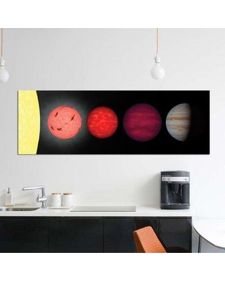 "East Urban Home 'An Artist's Rendition Comparing Brown Dwarfs To Stars And Planets' By Stocktrek Images Graphic Art Print on Wrapped Canvas EUME7965 Size: 16"" H x 48"" W x 0.75"" D"