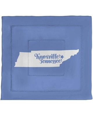 East Urban Home Knoxville Tennessee Single Reversible Comforter EBJG2965 Size: Queen Comforter Color: Blue