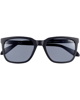 Quay Australia 55mm Square Sunglasses - Matte Black/ Smoke