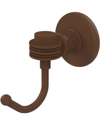 Allied Brass Continental Wall Mounted Utility Hook with Dotted Detail 2020D Finish: Antique Bronze