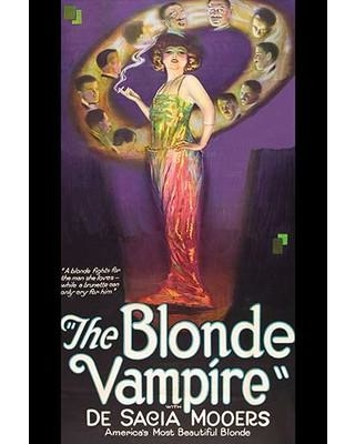 Amazing Deal On Buyenlarge The Blonde Vampire Unframed Advertisements Print In Brown Purple Size 66 H X 44 W X 1 5 D Wayfair 0 587 62297 Lc4466