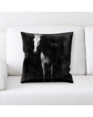Union Rustic Laird Horse Throw Pillow BF134245