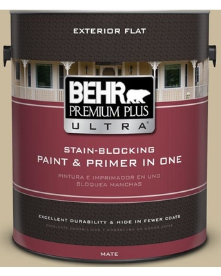 BEHR ULTRA 1 gal. #760D-4 Lion Flat Exterior Paint and Primer in One