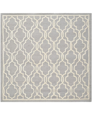 Safavieh Cambridge Silver/Ivory 10 ft. x 10 ft. Square Area Rug