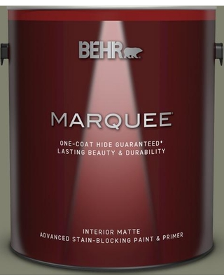 BEHR MARQUEE 1 gal. #PPU10-18 Lizard Green Matte Interior Paint and Primer in One