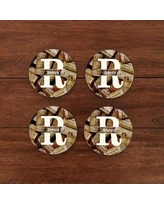 4 Wooden Shoes Personalized Wine Cork Coaster WF-3-102
