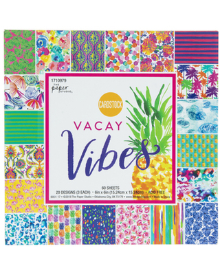 """Vacay Vibes Cardstock Paper Pack - 6"""" x 6"""""""