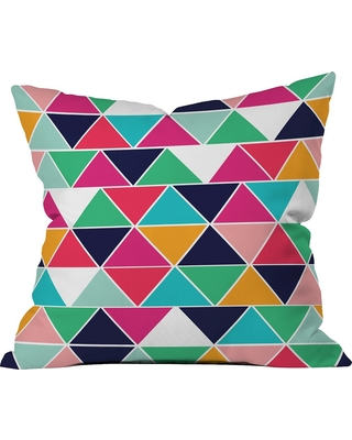 Love Triangle Throw Pillow - Deny Designs, Multi-Colored