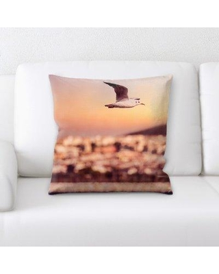 East Urban Home Seagull Throw Pillow W000778863