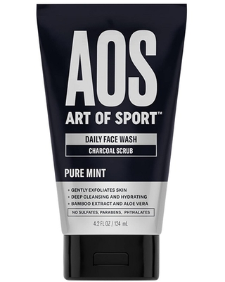 Art of Sport Daily Face Wash Charcoal Scrub - 4.2oz