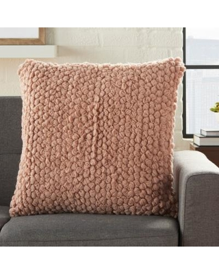 Mina Victory Life Styles Blush Thin Group Loops Throw Pillow - Nourison DC142