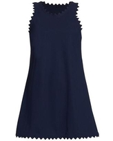 Ines Scalloped A-line Dress - Blue - Karla Colletto Dresses