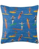 Island Girl Home Surfer Girl Surf Party Throw Pillow IGH-P224