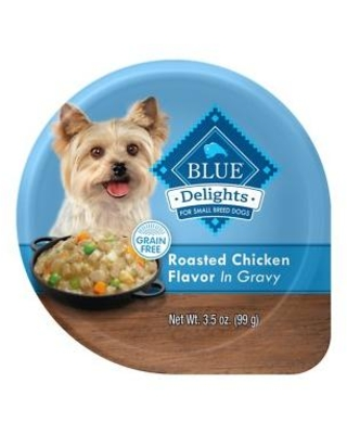 Blue Buffalo Divine Delights Roasted Chicken Flavor Hearty Gravy Dog Food Trays, 3.5-oz, case of 12