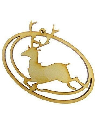 Personalized Reindeer Christmas Tree Ornaments