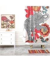 """Valentina Ramos Clementine in Red Shower Curtain (71""""x74"""") - Deny Designs, Multicolored Red"""