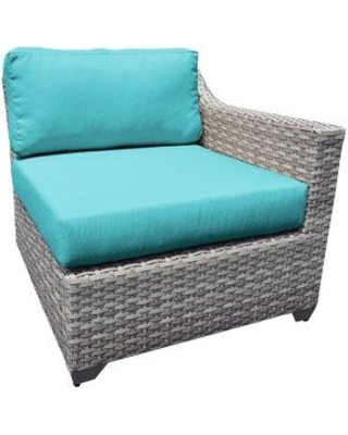 Sol 72 Outdoor Falmouth Patio Loveseat with Cushions ROHE6886 Cushion Color: Aruba