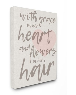 The Kids Room by Stupell Grace In Her Heart and Flowers in Her Hair XXL Stretched Canvas Wall Art, 30 x 1.5 x 40