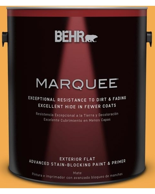 BEHR MARQUEE 1 gal. #290B-6 Squash Flat Exterior Paint and Primer in One