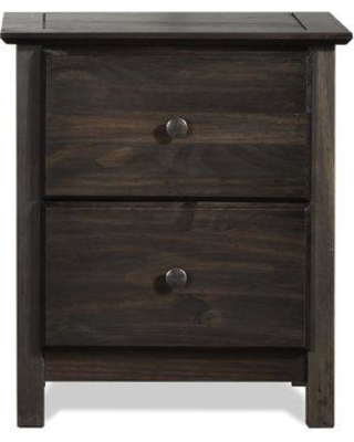 Grain Wood Furniture Shaker 2 Drawer Nightstand SH040 Color: Espresso