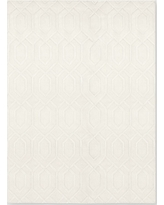 Cream (Ivory) Damask Tufted Area Rug 9'X12' - Project 62