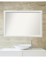 Choose Your Custom Size 30 in. x 44 in. Blanco White Wood Framed Mirror