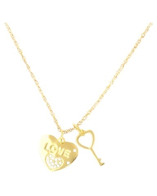 Brilliance Fine Jewlery Sterling Silver with 14KT Gold Plated Pendant