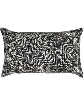 India's Heritage Swirl Print Throw Pillow C723-Sand-Chestnut