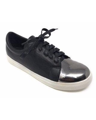 Forever Young Women's Metallic Tip Lace up Sneakers