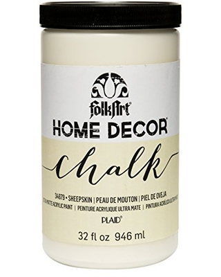 FolkArt Home Decor Chalk Furniture & Craft Paint in Assorted Colors, 32 ounce, Sheepskin