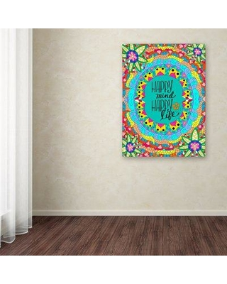 """Trademark Fine Art 'Flower Power Life' Graphic Art Print on Wrapped Canvas ALI12046-C Size: 32"""" H x 24"""" W x 2"""" D"""