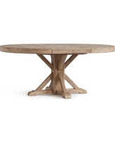Benchwright Extending Pedestal Dining Table, Seadrift