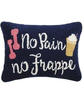 Wrought Studio Durst No Pain No Frappe Wool Throw Pillow BF023252