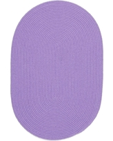 Joy Braids Solid Violet 2 ft. x 3 ft. Oval Indoor/Outdoor Braided Area Rug