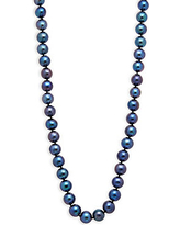 Masako Pearls 8-8.5MM Black Pearl & 14K Yellow Gold Necklace