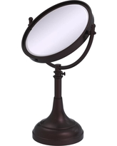 Allied Brass 8 in. x 23.5 in. x 5 in. Vanity Top Make-Up Mirror 2X Magnification in Antique Bronze