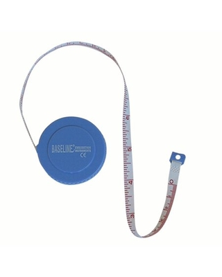 Baseline woven measurement tape with push-button retractor, 60""