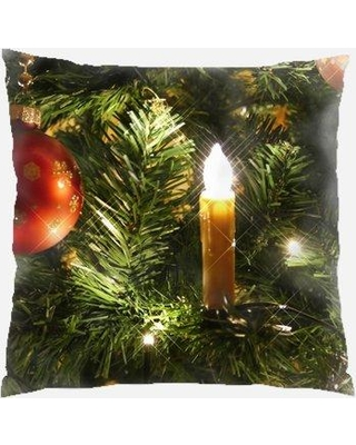 Savings On The Holiday Aisle Riggle Christmas Indoor Outdoor Canvas Throw Pillow Polyester Polyfill In Green Size 18x18 Wayfair