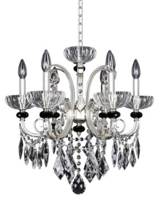 Symonds 6 - Light Candle Style Classic Chandelier with Crystal Accents