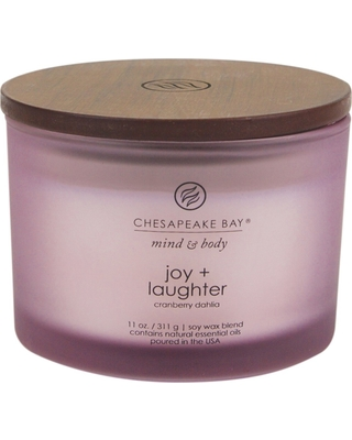 11oz Jar 3-Wick Candle Joy & Laughter - Chesapeake Bay Candle, Purple