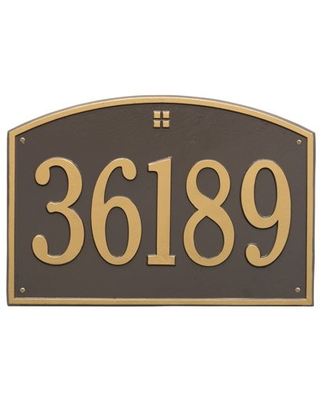 Whitehall Products 1-Line Personalized Address Wall Plaque in Oil Rubbed Bronze